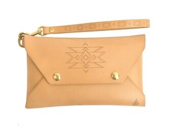 Leather Envelope Clutch / Leather Purse / Minimalist Clutch Purse / Handcrafted in Portland, Oregon.