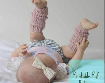 Printable Crochet Pattern, baby Leg warmers, babyshower gifts, crochet Pattern, PDF file Only, Crochet Leg Warmers Pattern, Printable Pdf