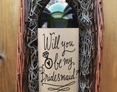 Bridesmaid Wine Label - Will you be my Bridesmaid Wine Label - Kraft