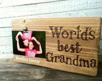 worlds best grandma photo clip board gifts for grandma mothers day gift grandma picture holder grandma picture frame picture holder
