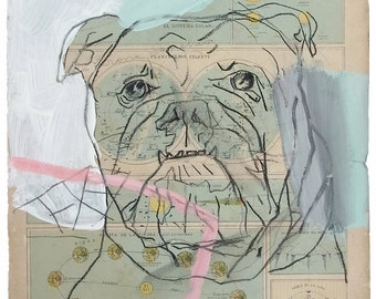 Dog. Limited edition glicée print (Etching Rag® 310 by Canson) By Juanma Pérez