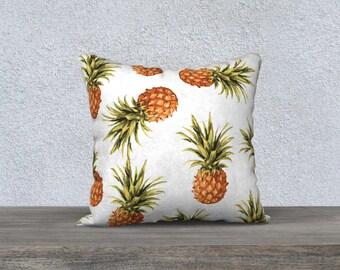 Pineapple Pillow  - Pineapple Cushion  - Pineapple Decor Modern Decor - Tropical Pillow  - 18x18 or 20x14 - Decorative Pillow