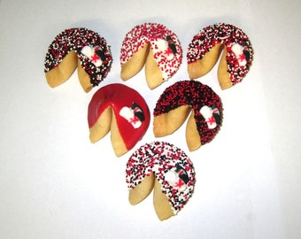 24 GRADUATION Red, Black & White Fortune Cookies, Achievement, Cap and Scroll, Congratulations Gift
