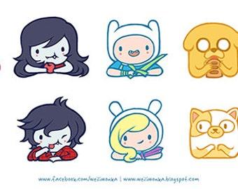 Adventure time Gender bent kiss-cut stickers (21cmx10cm)