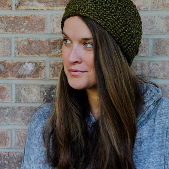 PDF Crochet Pattern ~ Beanie - Crochet Hat Pattern - One Size