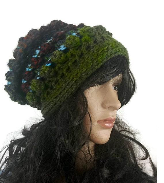 Outlander Chunky Bobble Hat Brown Green BlueClaire Diana Gabaldon Cap Beanie Unisex Winter Accessories HT07