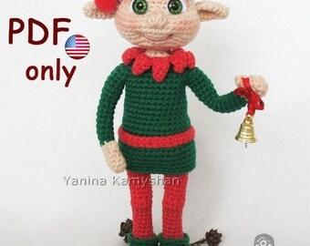 Christmas Elf, amigurumi crochet pattern