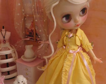 Haute Couture 'Spring Promenade' Dress set for Blythe or similar sized dolls