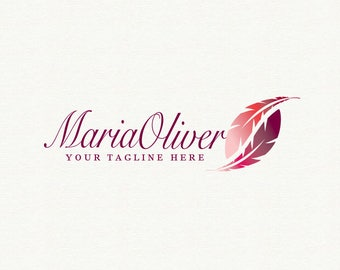feather logo, feather logo design, logo feather, logo with feather, red feather logo, feather logo vector, hand-drawn logo