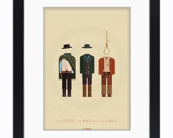 The Good The Bad And The Ugly - Mounted & Framed Art Print