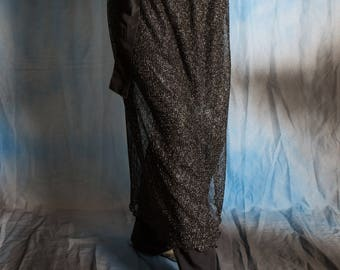 Black & Silver Wrap Around Skirt