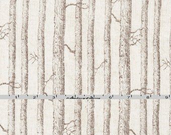Brown Birch Tree Fabric, Timeless Treasures Katie Pertiet C5263 Wilderness, Woodland Quilt Fabric, Tree Trunk Landscape Fabric, Cotton