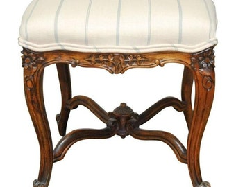 French Louis XV Carved Tabouret Stool