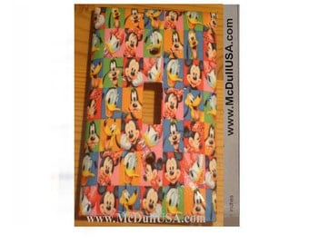 Disney Micky Mouse and Friends icon Light & Power Outlet Duplex Switch Place Cover Home decor