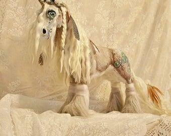 -25% discount Unicorn Clydesdale OOAK, Boho, handmade