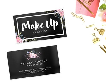 Modern business card template - small business branding - custom - printable - printed - design - hair - photography - Digital Business Card