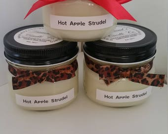 Hot Apple Strudel Scented Soy Candle