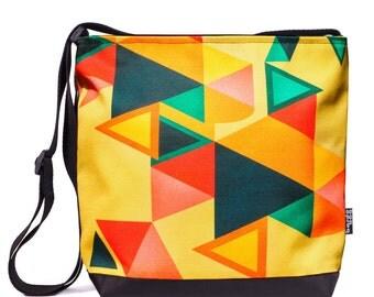 Boho Messenger Bag, Summer Outdoors, Laptop Bag, Yellow Tote Bag, Bucket Bag, Shoulder Bag, Boho Chic, Travel Bag, Shoulder Tote, Casual Bag