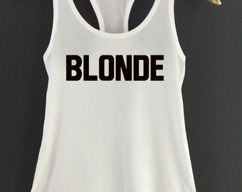 Blonde Tank Top - Blond Tank Top - Blonde and Brunette Tanks - Blonde Best Friends Tank Tops - Hair Color Tank Tops - Blonde BFF Tank Top
