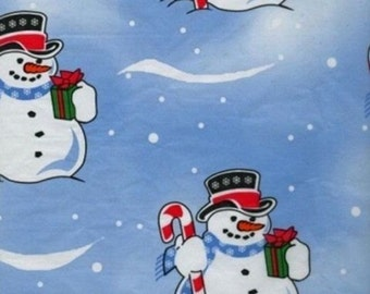 """Frosty Snowman Christmas Tissue Paper #844 - 10 lg sheets .. 20"""" x 30""""  -- Gift Wrap"""