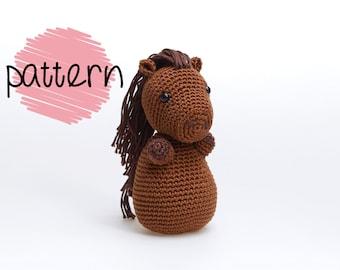 Crochet Horse Pattern, Horse Amigurumi Pattern, Amigurumi Horse PDF, PDF Horse Pattern, Crochet Horse Tutorial, Crochet Pony Pattern