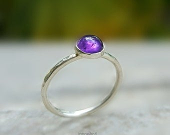 Amethyst Ring Ring Amethyst Purple Amethyst Ring Amethyst Gemstone Ring Lavender Amethyst Ring Amethyst Stacking Ring February Birthstone