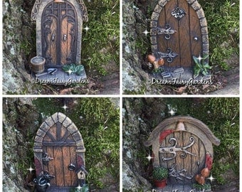 Miniature fairy garden door, miniature door, fairy garden accessories, fairy supplies, miniature fairy garden, ladybug door, gnome door