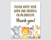 Safari Animal Address an ...