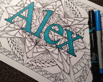 Alex Coloring page from an Original drawing