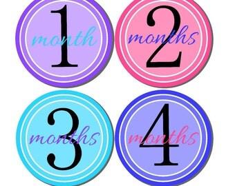 Milestone Stickers, Baby Month Stickers, Monthly Stickers, Monthly Baby Sticker, Baby Shower Gifts, Baby Month Sticker Girl, G20