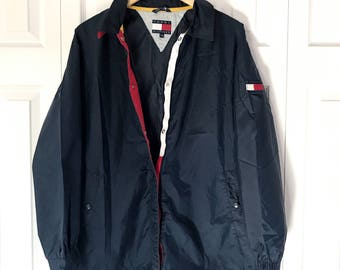 90s Tommy Hilfiger Windbreaker Jacket Large