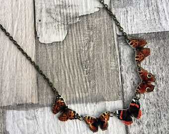 Butterfly Necklace, Entomology Necklace, Butterfly Necklace, Moth Necklace, British Wildlife