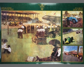 1991 75th Indianapolis 500 Motor Speedway Poster Race Art 36 x 24 Man Cave Vintage