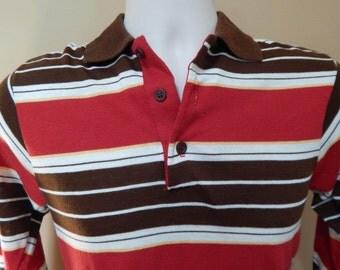 70's Wonderknit striped polo boys shirt