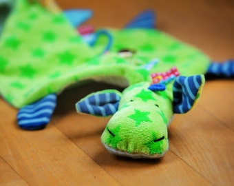 DIY: Pacifier-Dragon & Crinkly-Dragon - tutorial with pattern