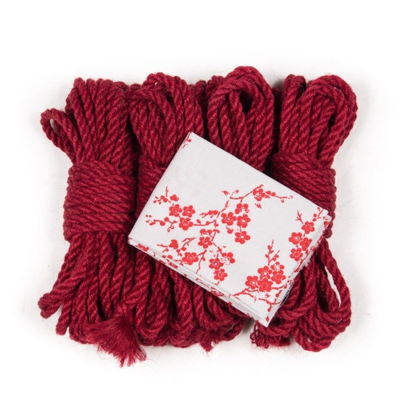 Red seito shibari rope bondage kit