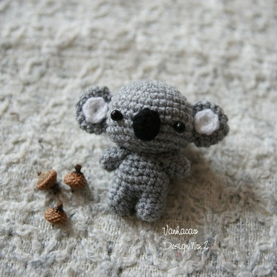 Amigurumi Koala Keychain : Koala Bear Keychains Handmade Handcrafted Crocheted