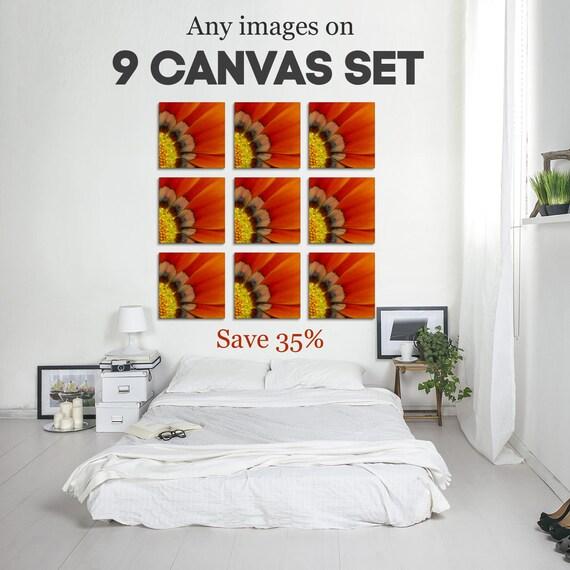 Set Of 9 Canvas, Canvas Print Set, Affordable Wall Art, Canvas Panels, Canvas Prints, Office Decor, Wall Art Set, Stretched Canvas