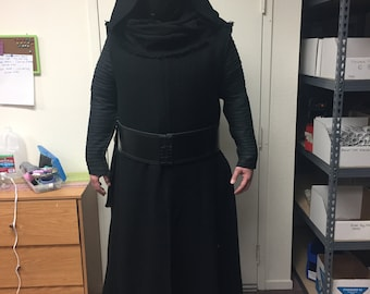 Star Wars KYLO REN cape and robe made with Black Aprentice Fabric (JJ)