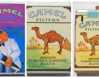 Vintage Camel Lighters / Three Vintage Camel Disposable Lighters / Joe Camel / Camel Cigarette Lighter // Camel Disposable Lighters
