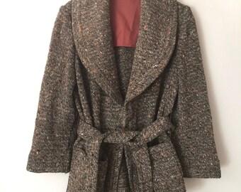 Womens Cardigan 70s Wrap Sweater Small Medium