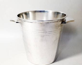French Vintage Silver Plated Champagne Bucket - Saint Médard