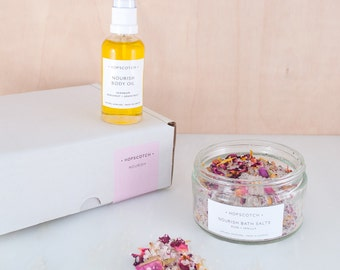 Hopscotch Nourish Skincare Gift Box — All natural vegan skincare gift — Made in the UK