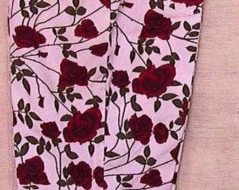 80s Capri Pants with Roses