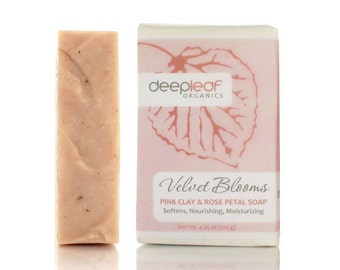Pink Clay Soap, Organic Soap, Clay Soap, Rose Soap, Natural Soap, Vegan Soap, Essential Oil Soap, Aromatherapy Soap, Moisturizing Soap