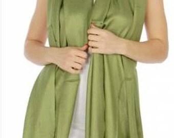 Olive green pashmina scarf - green wedding scarves - olive green bridesmaid gift - green bridal shower favors - light green wedding