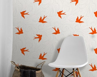 Brick color fabric etsy - Wallpaper voor hoofdeinde ...