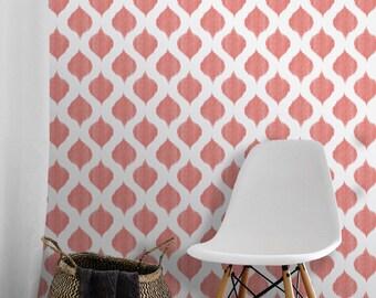 Ikat Dots Repositionable Peel 'n Stick Wallpaper