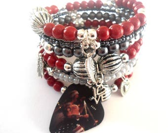 Guns n roses jewelry, Axl Rose bracelet,  Great gift idea for women Guns and Roses rock band fans