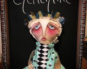 Clementine, Hand-painted doll, painted podge, Art Dolls, OOAK, Primitive, Podge, Collectible, Primitive